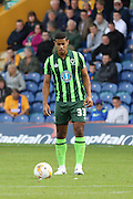 Lyle Taylor of AFC Wimbledon during the Sky Bet League 2 match between Mansfield Town and AFC Wimbledon at the One Call Stadium, Mansfield, England on 5 September 2015. Photo by Stuart Butcher.