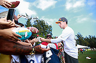 January 28 2016: Dallas Cowboys kicker Dan Bailey signs autographs after the Pro Bowl practice at Turtle Bay Resort on North Shore Oahu, HI. (Photo by Aric Becker)