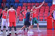 Ettore Messina Filippo Baldi rossi<br /> Nazionale Italiana Maschile Senior<br /> Eurobasket 2017<br /> Allenamento<br /> FIP 2017<br /> Telaviv, 30/08/2017<br /> Foto Ciamillo - Castoria/ M.Longo