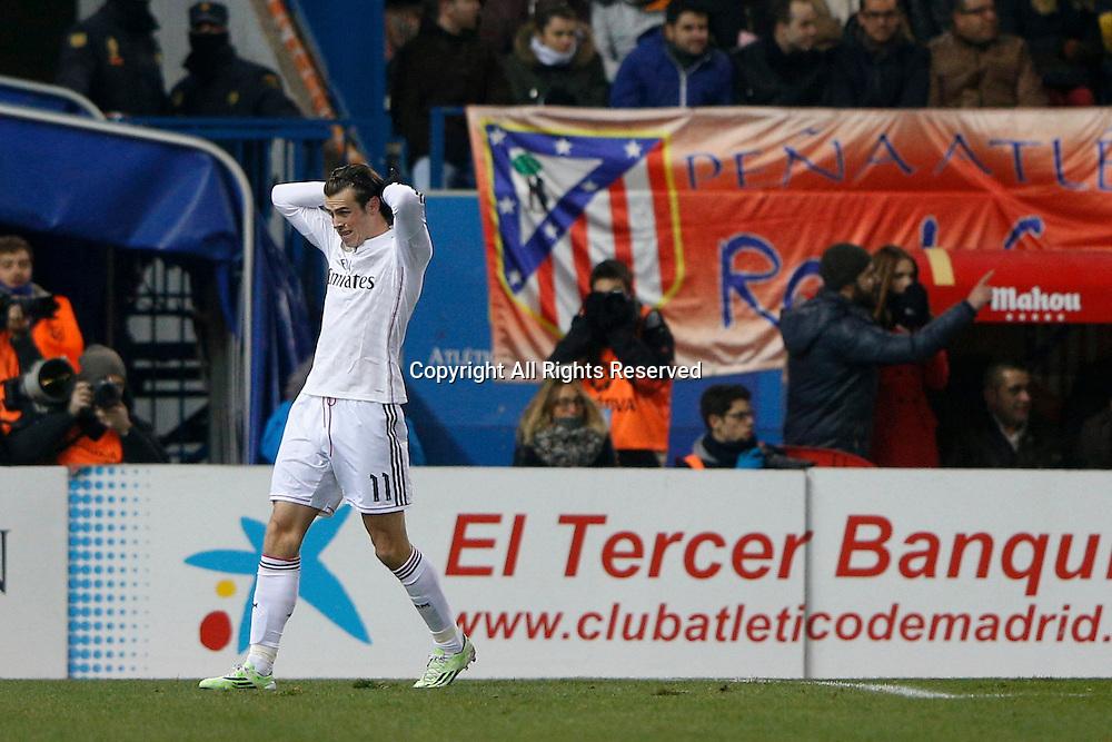 07.01.2015. Madrid, Spain. Copa del Rey Cup football. Atletico Madrid versus real madrid. Gareth  Bale Midfielder of Real Madrid .
