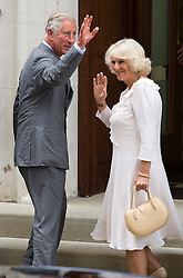 © London News Pictures. 23/07/2013.  Prince Charles and The Duchess of Cornwall arriving at St Mary's Hospital to visit Prince William and  The Duchess of Cambridge who gave birth to a baby boy yesterday. Photo credit: Ben Cawthra/LNP