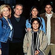 Pittig Popconcert 1997 Utrecht, Connie en Hans Breukhoven met hun kinderen
