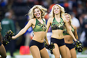 NEW ORLEANS, LA - NOVEMBER 13:  Cheerleaders of the New Orleans Saints perform during a game against the Denver Broncos at Mercedes-Benz Superdome on November 13, 2016 in New Orleans, Louisiana.  The Broncos defeated the Saints 25-23.  (Photo by Wesley Hitt/Getty Images) *** Local Caption ***