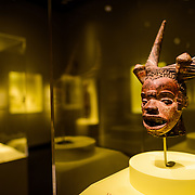 Smithsonian National Museum of African Art Mask Sculpture. The Smithsonian National Museum of African Art was opened at its current location in 1987 as a mostly underground facility behind the Smithsonian Castle on Washington DC's National Mall. It is dedicated to ancient and contemporary African art.