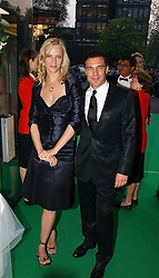 Actress UMA THURMAN and Andre Balazs at the NSPCC's Dream Auction held at The Royal Albert Hall, London on 9th May 2006.<br />