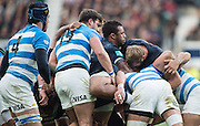 Twickenham, United Kingdom. Courtlney LAWES diredting the &quot;Maul&quot; during the Old Mutual Wealth Series Rest Match: England vs Argentina, at the RFU Stadium, Twickenham, England, <br /> <br /> Saturday  26/11/2016<br /> <br /> [Mandatory Credit; Peter Spurrier/Intersport-images]