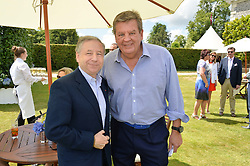 Left to right, JOHANN RUPERT he is Chief Executive of Richemont and JEAN TODT at the Cartier hosted Style et Lux at The Goodwood Festival of Speed at Goodwood House, West Sussex on 29th June 2014.