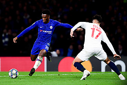 Callum Hudson-Odoi of Chelsea is marked by Zeki Celik of Lille - Mandatory by-line: Ryan Hiscott/JMP - 10/12/2019 - FOOTBALL - Stamford Bridge - London, England - Chelsea v Lille - UEFA Champions League group stage