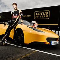 Romain Grosjean<br /> Portrait<br /> 27th April 2015<br /> Brands Hatch, Fawkham. Kent<br /> Copyright Malcolm Griffiths<br /> Contact 07768 230706<br /> www.malcolm.gb.net