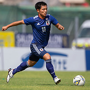 TOULON, FRANCE June 15.  Reo Hatate #11 of Japan in action during the Brazil U22 V Japan U22 Final match at the Tournoi Maurice Revello at Stade D'Honneur on June 15th 2019 in Toulon, Provence, France. (Photo by Tim Clayton/Corbis via Getty Images)