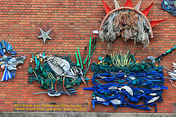 UK ENGLAND LONDON 2MAY16 - Wall art made from debris found along the Grand Union Canal near Little Venice, Maida Vale, west London.<br /> <br /> jre/Photo by Jiri Rezac<br /> <br /> © Jiri Rezac 2016