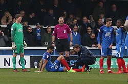 Ryan Tafazolli of Peterborough United requires treatment after picking up an early injury which saw him substituted - Mandatory by-line: Joe Dent/JMP - 24/03/2018 - FOOTBALL - ABAX Stadium - Peterborough, England - Peterborough United v Bristol Rovers - Sky Bet League One