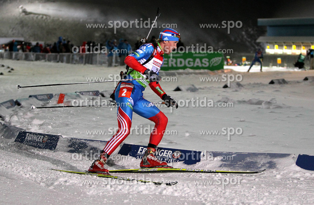 05.01.2012, DKB-Ski-ARENA, Oberhof, GER, E.ON IBU Weltcup Biathlon 2012, Staffel Herren, im Bild Alexey Volkov (RUS) // during relay Mens of E.ON IBU World Cup Biathlon, Thüringen, Germany on 2012/01/05. EXPA Pictures © 2012, PhotoCredit: EXPA/ nph/ Hessland..***** ATTENTION - OUT OF GER, CRO *****