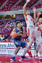 NORMAL, IL - November 03:   Micah Martin hesitates to draw the foul on Phil Fayne during a college basketball game between the ISU Redbirds  and the Augustana Vikings on November 03 2018 at Redbird Arena in Normal, IL. (Photo by Alan Look)