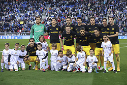 April 22, 2017 - Barcelona, Spain - Atletico Madrid initil team during the match between RCD Espanyol vs Atletico Madrid, for the round 33 of the Liga Santander, played at RCD Espanyol Stadium on 22th April 2017 in Barcelona, Spain. (Credit Image: © Anna Trigueros/NurPhoto via ZUMA Press)