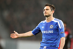 23.11.2011, BayArena, Leverkusen, Germany, UEFA CL, Gruppe E, Bayer 04 Leverkusen (GER) vs Chelsea FC (ENG), im Bild Frank Lampard (Chelsea #8) entaeuscht/ entäuscht/ traurig // during the football match of UEFA Champions league, group E, between Bayer Leverkusen (GER) and FC Chelsea (ENG) at BayArena, Leverkusen, Germany on 2011/11/23.EXPA Pictures © 2011, PhotoCredit: EXPA/ nph/ Mueller..***** ATTENTION - OUT OF GER, CRO *****