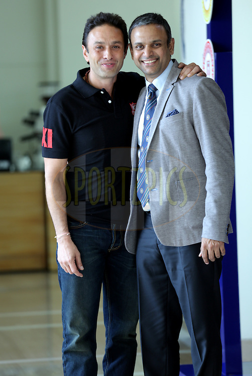 Ness Wadia of Kings XI Punjab and Sundar Raman IPL CEO during the Pepsi IPL Player Auction held at the ITC Gardenia in Bengaluru, India on the 13th February 2014<br /> <br /> Photo by Sandeep Shetty/BCCI/SPORTZPICS