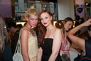 KATE HAWKER; SIBYLLE BOETTGER, Wolf & Badger - pop-up store launch party. Wonder Room, Selfridges, 13 August 2010. -DO NOT ARCHIVE-© Copyright Photograph by Dafydd Jones. 248 Clapham Rd. London SW9 0PZ. Tel 0207 820 0771. www.dafjones.com.