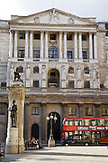 The Bank of England whose Monetary Committee sets the banking base rate, City of London, England, UK