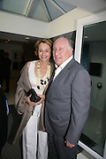 Sir frederick and Lady Forsyth, Launch of Tina Brown's book 'The Diana Chronicles' hosted by Reuters. Serpentine Gallery. 18 June 2007.  -DO NOT ARCHIVE-© Copyright Photograph by Dafydd Jones. 248 Clapham Rd. London SW9 0PZ. Tel 0207 820 0771. www.dafjones.com.