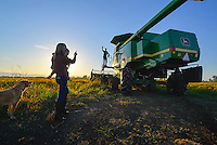 Rice Farmer Brian Barrett and his wife on their farm in Maxwell Ca, Monday Oct 01, 2013<br /> Photo Brian Baer