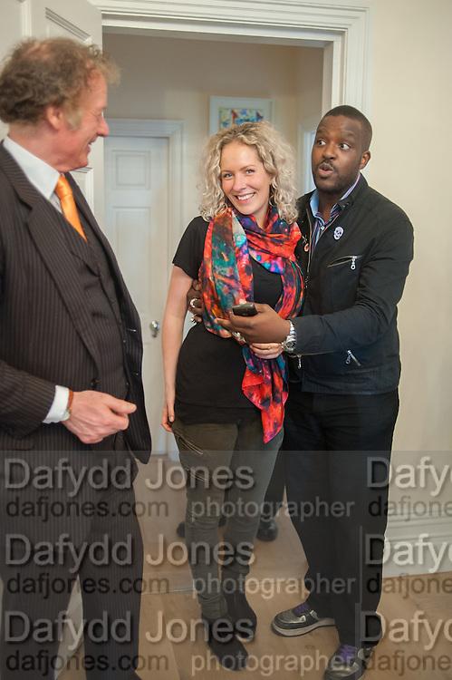 RICHARD BRIGGS; ALEXANDRA DAVIDSON; ORLANDO HAMILTON, Party given by Basia Briggs and Richard Briggs at their home in Chelsea. London. 14 May 2012