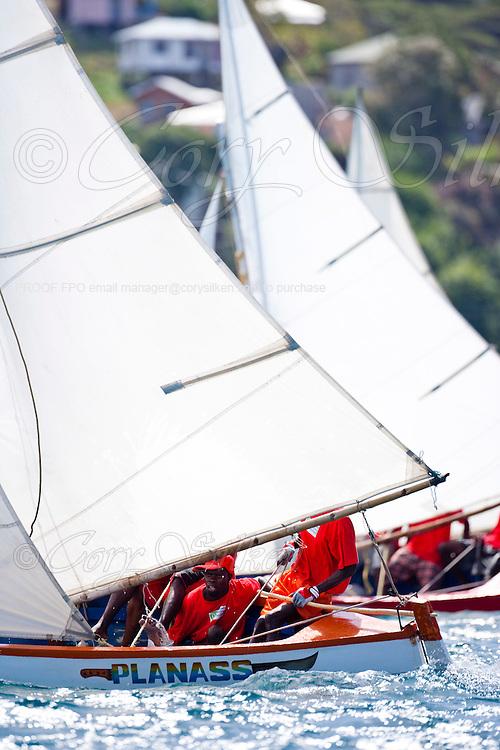 Grenada Sailing Festival 2010, Digicel Workboat Regatta, day one.