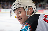 KELOWNA, BC - DECEMBER 30: Kaedan Korczak #6 of the Kelowna Rockets stands on the bench against the Prince George Cougars at Prospera Place on December 30, 2019 in Kelowna, Canada. Korczak was selected in the 2019 NHL entry draft by the Vegas Golden Knights. (Photo by Marissa Baecker/Shoot the Breeze)