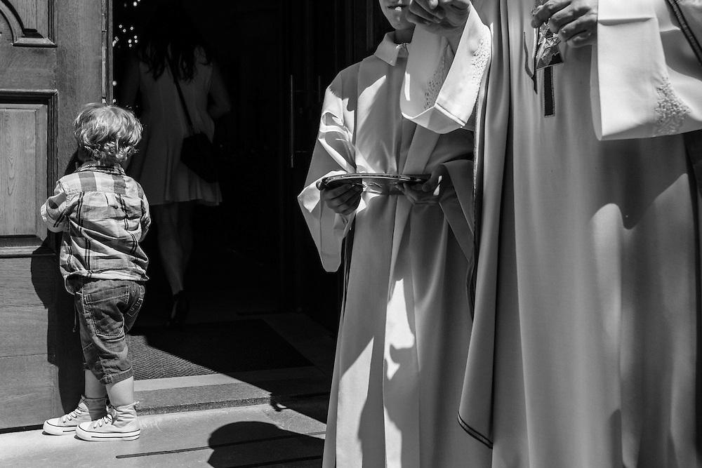 Lenart, my nephew exploring sorroundings at Simons and Špelas wedding.