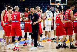 Sasha Aleksandar Djordjevic, head coach of Serbia wirh David Vojvoda of Hungary during basketball match between National Teams of Serbia and Hungary at Day 11 in Round of 16 of the FIBA EuroBasket 2017 at Sinan Erdem Dome in Istanbul, Turkey on September 10, 2017. Photo by Vid Ponikvar / Sportida