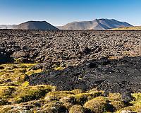 Gjástykki lava field, North Iceland. Lava from the Krafla eruptions 1975-1984. Hraun frá Kröflueldum í Gjástykkjum.