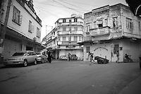 A street corner in old town, Mombasa, kenya