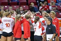 09 October 2009:  The Redbirds. The Redbirds of Illinois State defeated the Braves of Bradley in 3 sets during play in the Redbird Classic on Doug Collins Court inside Redbird Arena in Normal Illinois
