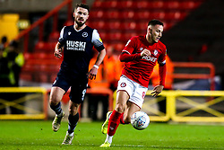 Josh Brownhill of Bristol City goes past Tom Bradshaw of Millwall - Mandatory by-line: Robbie Stephenson/JMP - 10/12/2019 - FOOTBALL - Ashton Gate - Bristol, England - Bristol City v Millwall - Sky Bet Championship