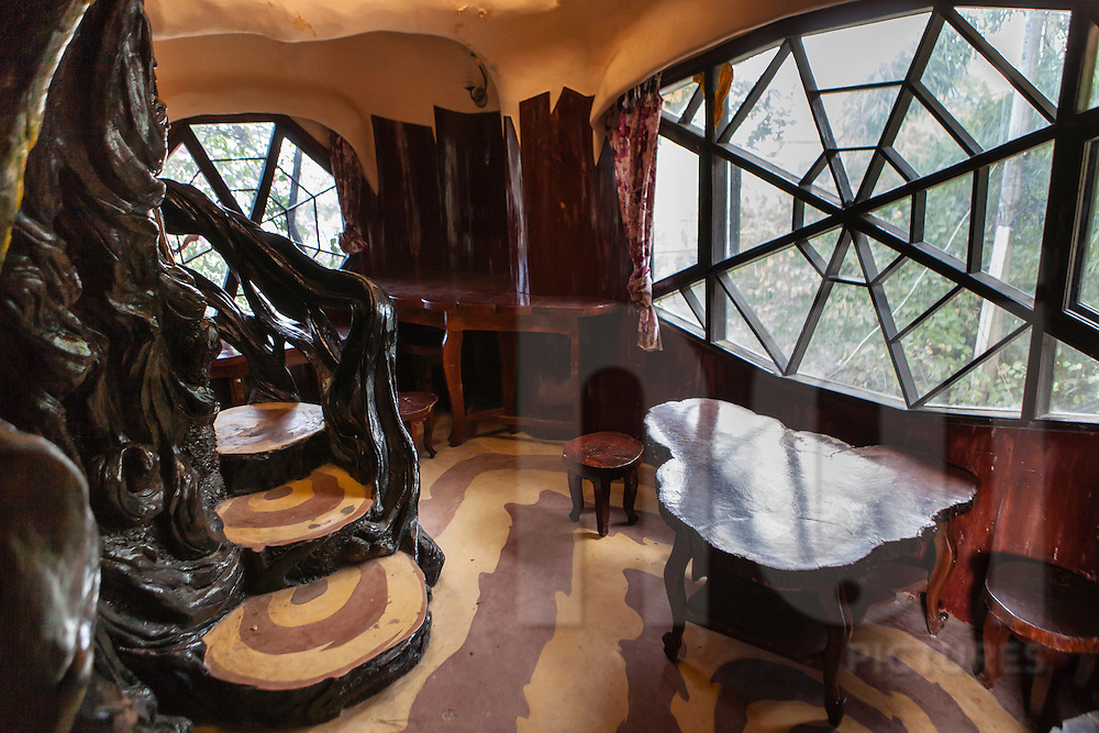 Interiors architecture of The Crazy House, Da Lat, Vietnam, Souhteast Asia