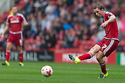 Grant Leadbitter (Middlesbrough FC) during the Sky Bet Championship match between Middlesbrough and Milton Keynes Dons at the Riverside Stadium, Middlesbrough, England on 12 September 2015. Photo by George Ledger.