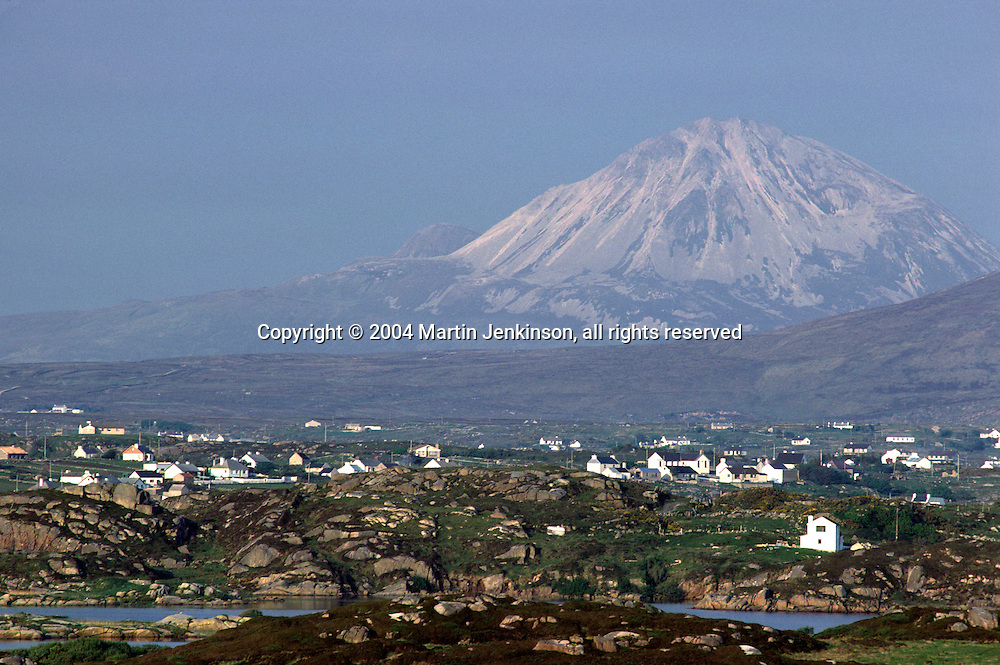 Mount Errigal, in Gaelic An Earagail, Donegals highest mountain.