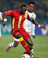 Fotball<br /> VM 2010<br /> USA v Ghana<br /> 26.06.2010<br /> Foto: Gepa/Digitalsport<br /> NORWAY ONLY<br /> <br /> Bild zeigt Robbie Findley (USA) und John Mensah (GHA).