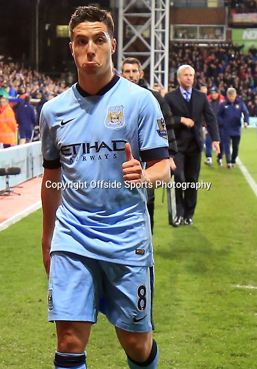 06 April 2015 - Barclays Premier League - Crystal Palace v Manchester City - Samir Nasri of Manchester City gives a thumbs up despite the 2-1 defeat - Photo: Marc Atkins / Offside.