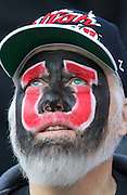 Utah Utes fan, Lyman Smith, looks toward the field during the first half of an NCAA college football game against Oregon State at Rice-Eccles Stadium, Saturday, Oct. 29, 2011, in Salt Lake City.  (AP Photo/Colin E. Braley).
