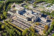 Nederland, Gelderland, Tiel, 30-09-2015; ziekenhuis Rivierenland, streekziekenhuis.<br /> Regional hospital.<br /> luchtfoto (toeslag op standard tarieven);<br /> aerial photo (additional fee required);<br /> copyright foto/photo Siebe Swart