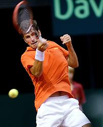 12-09-2014 NED: Davis Cup Nederland - Kroatie, Amsterdam<br /> Robin Haase