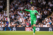 Wayne Hennessey (13) of Crystal Palace during the Premier League match between Fulham and Crystal Palace at Craven Cottage, London, England on 11 August 2018.