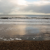 Grey sea view with waves