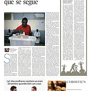 "Tearsheet of ""Senegal: presidential election"" published in Expresso"