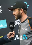 Black Caps Captain Kane Williamson speaks post match during the Fifth ODI of the 2019 ANZ International ODI Series. Blackcaps v India at Westpac Stadium, Wellington, Sunday 3rd February 2019. © Copyright Photo: Grant Down / www.photosport.nz