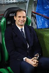 """Foto Filippo Rubin<br /> 10/02/2019 Reggio Emilia (Italia)<br /> Sport Calcio<br /> Sassuolo - Juventus - Campionato di calcio Serie A 2018/2019 - Stadio """"Mapei Stadium""""<br /> Nella foto: MASSIMILIANO ALLEGRI (ALLENATORE JUVENTUS)<br /> <br /> Photo Filippo Rubin<br /> February 10, 2019 Reggio Emilia (Italy)<br /> Sport Soccer<br /> Sassuolo vs Juventus - Italian Football Championship League A 2018/2019 - """"Mapei Stadium"""" Stadium <br /> In the pic: MASSIMILIANO ALLEGRI (JUVENTUS TRAINER)"""