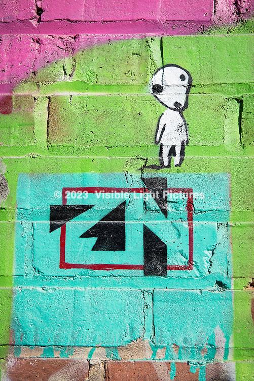 Graffiti art on a building wall