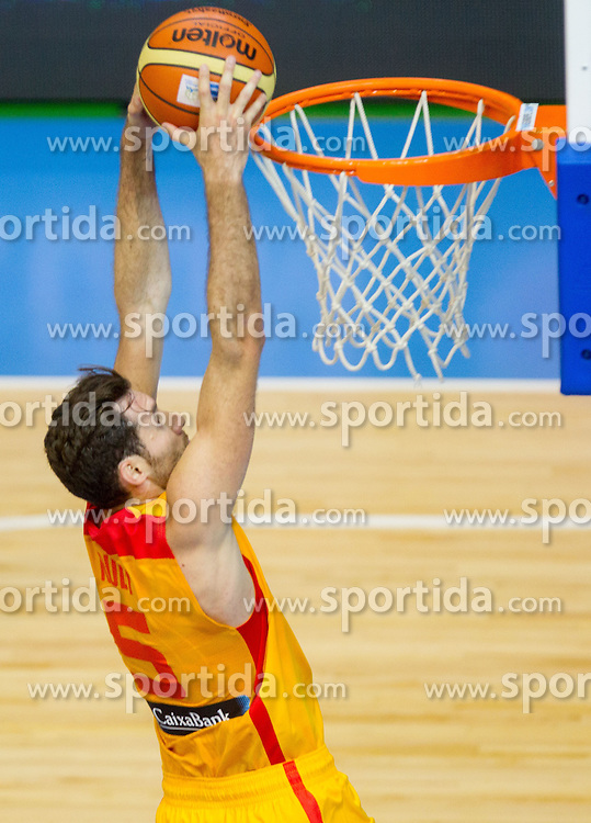 Rudy Fernandez #5 of Spain during basketball match between National teams of Spain and Czech Republic in Round 1 at Day 4 of Eurobasket 2013 on September 7, 2013 in Arena Zlatorog, Celje, Slovenia. (Photo by Vid Ponikvar / Sportida.com)