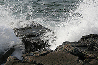 ocean spray on rocks Inis Mor the Aran Islands County Galway